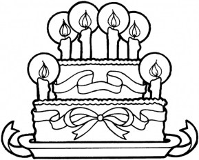 Free Birthday Cake Coloring Pages to Print 12490
