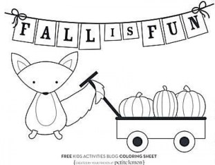 Free Fall Coloring Pages for Kids yy6l0