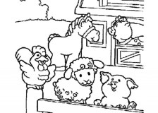 Free Farm Animal Coloring Pages for Toddlers p97hr