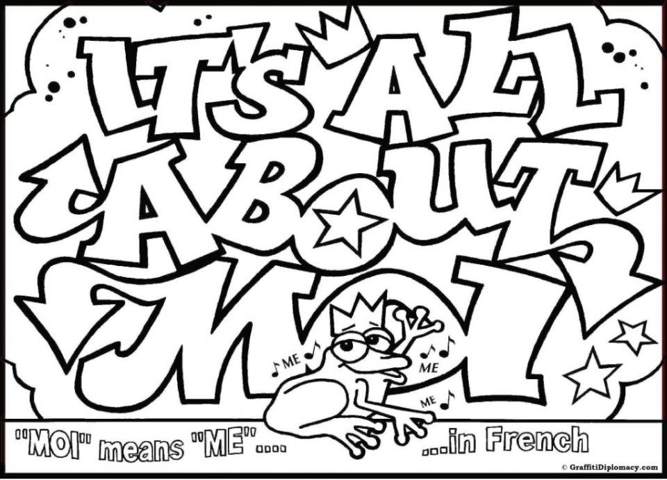 Free Graffiti Coloring Pages to Print   76049