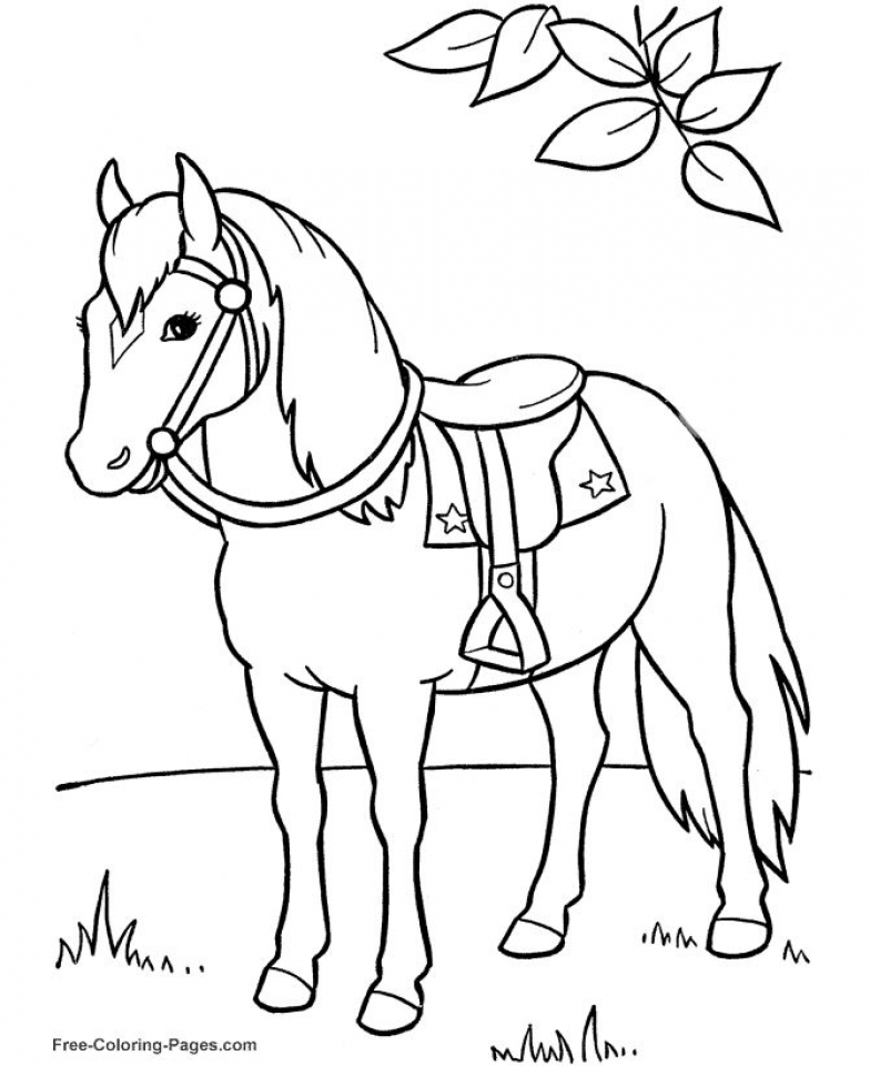 Free Horses Coloring Pages for Kids   ddpA0
