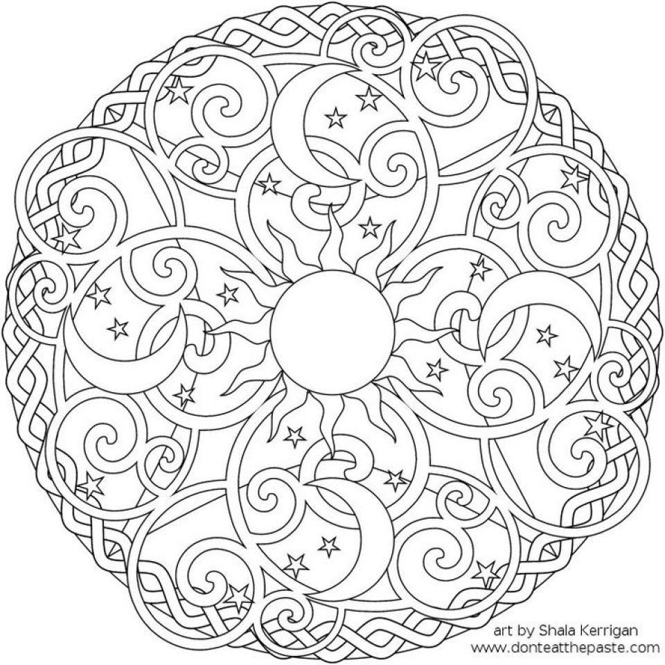 Free Mandala Coloring Pages For Adults   16377