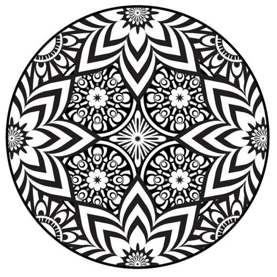 Get This Free Mandala Coloring Pages For Adults to Print ... | free printable mandala colouring pages for adults