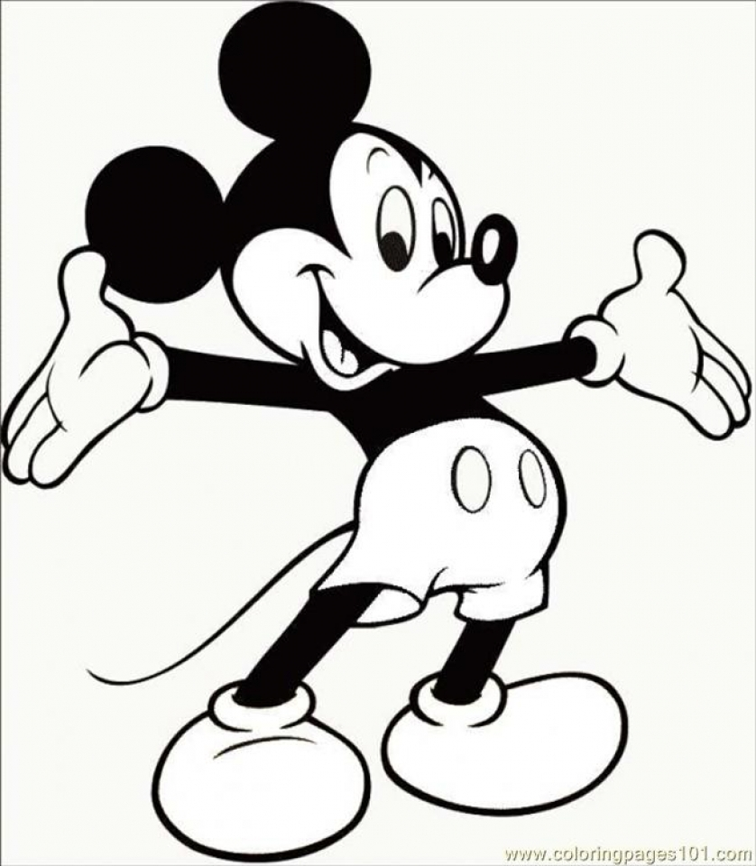 Free Mickey Coloring Pages   17248