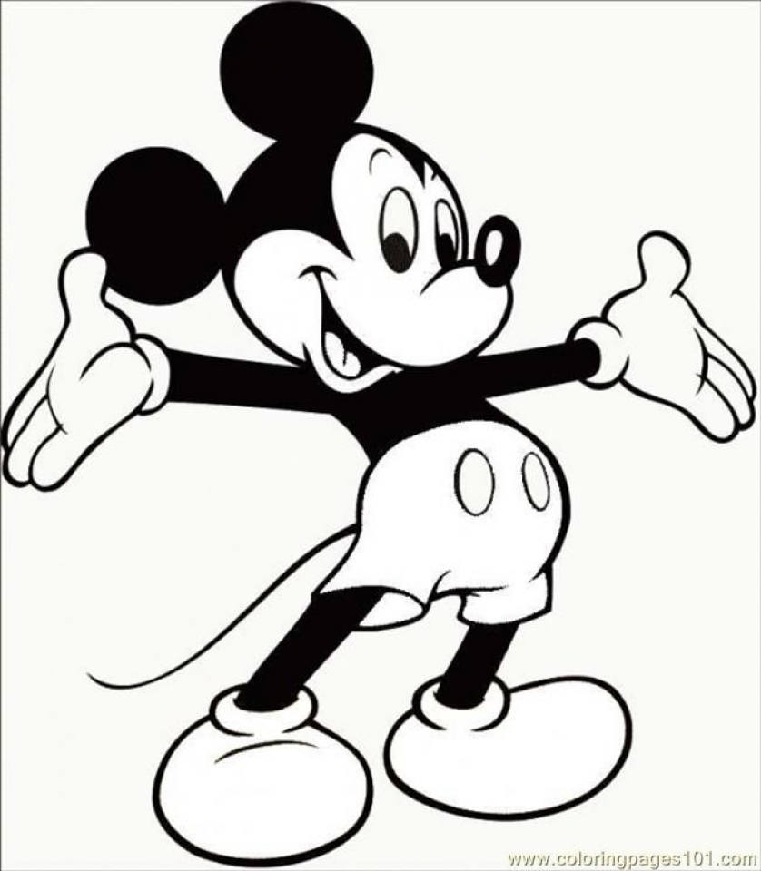 Free Mickey Mouse Coloring Page   46159