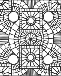 Free Mosaic Coloring Pages 16377