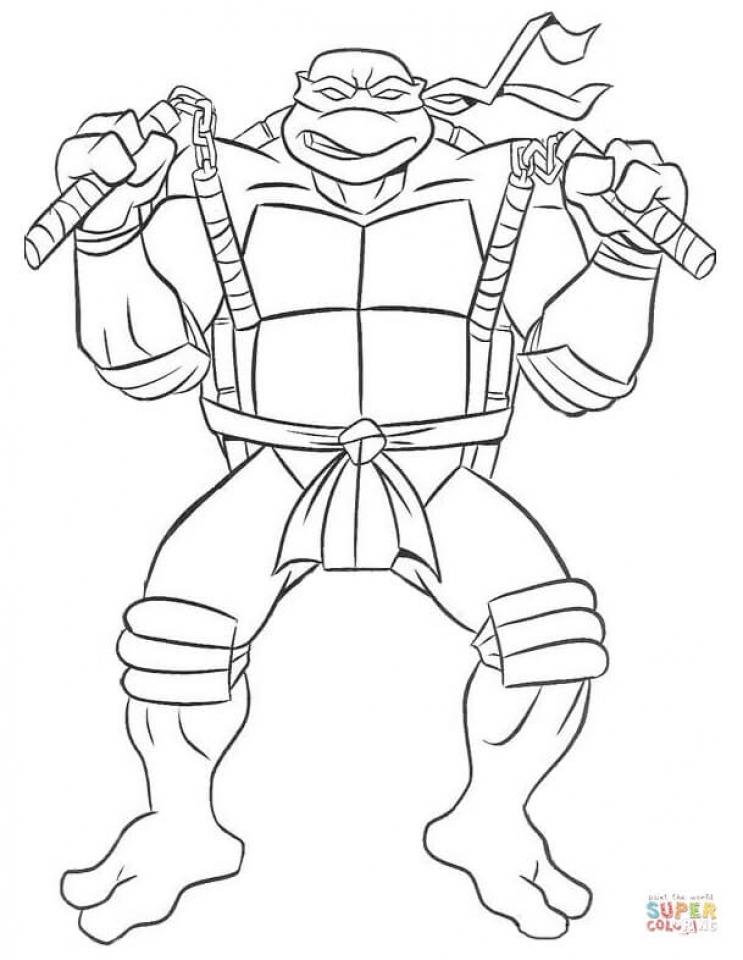 Free Ninja Turtle Coloring Page 42893