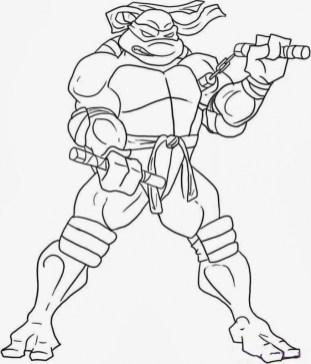 Free Ninja Turtle Coloring Page to Print 77417