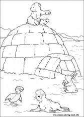 Free Polar Bear Coloring Pages for Toddlers p97hr