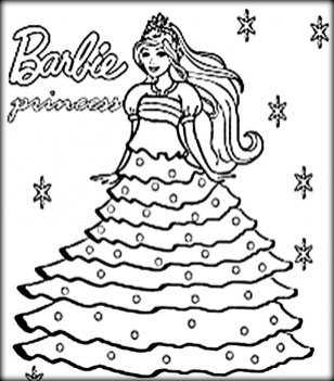 Free Printable Barbie Coloring Pages for Kids 5gzkd