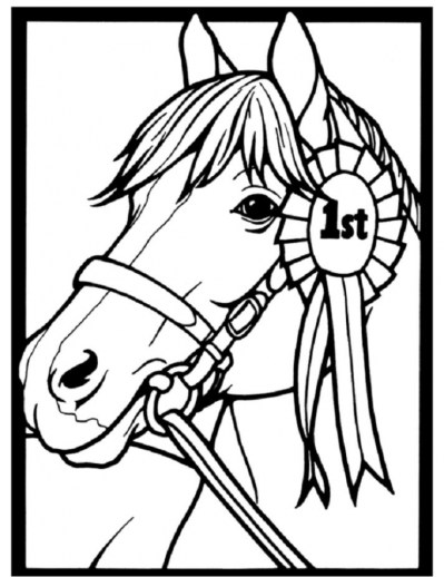 Free Printable Horses Coloring Pages for Kids I86Om