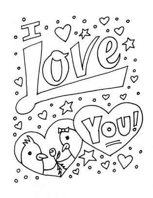 Free Printable I Love You Coloring Pages for Kids 5gzkd