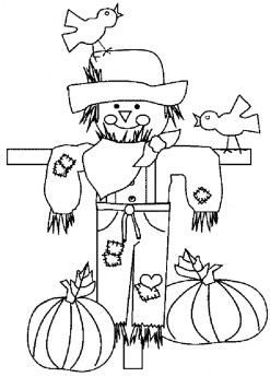 Free Printable Scarecrow Coloring Pages for Kids I86Om