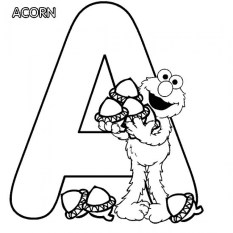 Free Simple Letter Coloring Pages for Children t6gbg