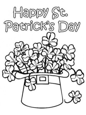 Free Simple Shamrock Coloring Pages for Children af8vj