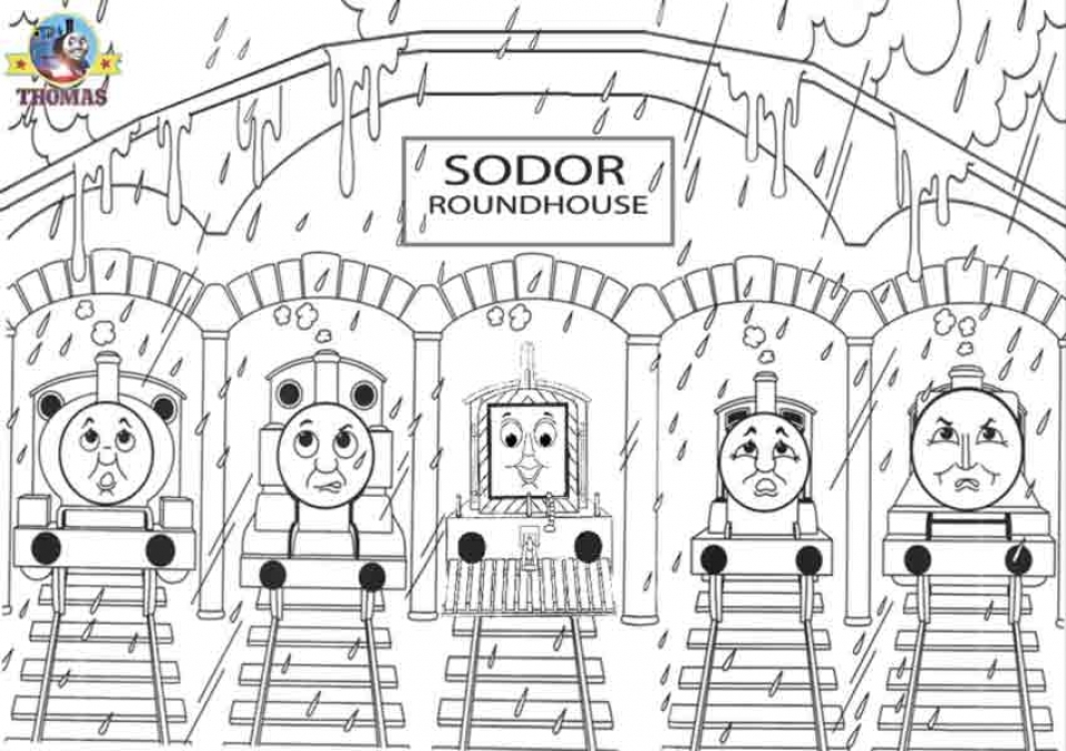 Get This Free Simple Thomas And Friends Coloring Pages For Children T6gbg !