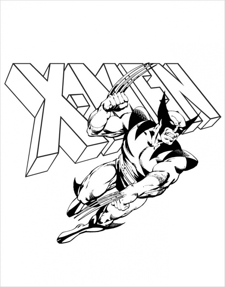 Free Simple Wolverine Coloring Pages for Children   t6gbg