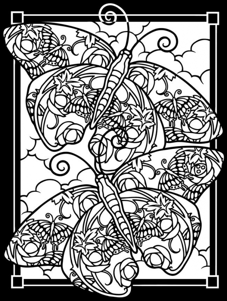 Free Stained Glass Coloring Pages   92143