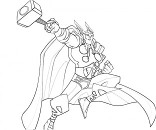 Free Thor Coloring Pages 25762