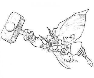 Free Thor Coloring Pages 4488