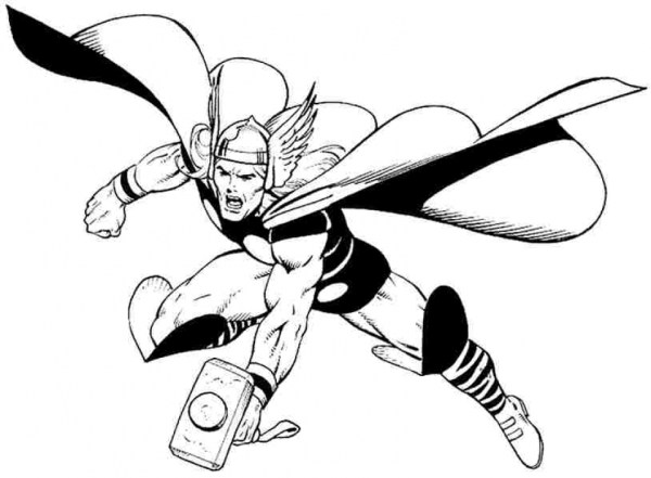 thor coloring page # 13