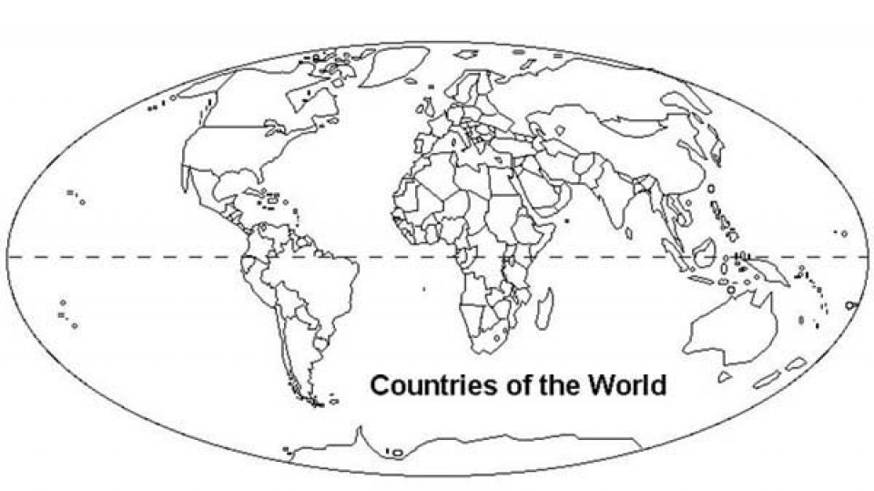 Free World Map Coloring Pages for Toddlers   p97hr