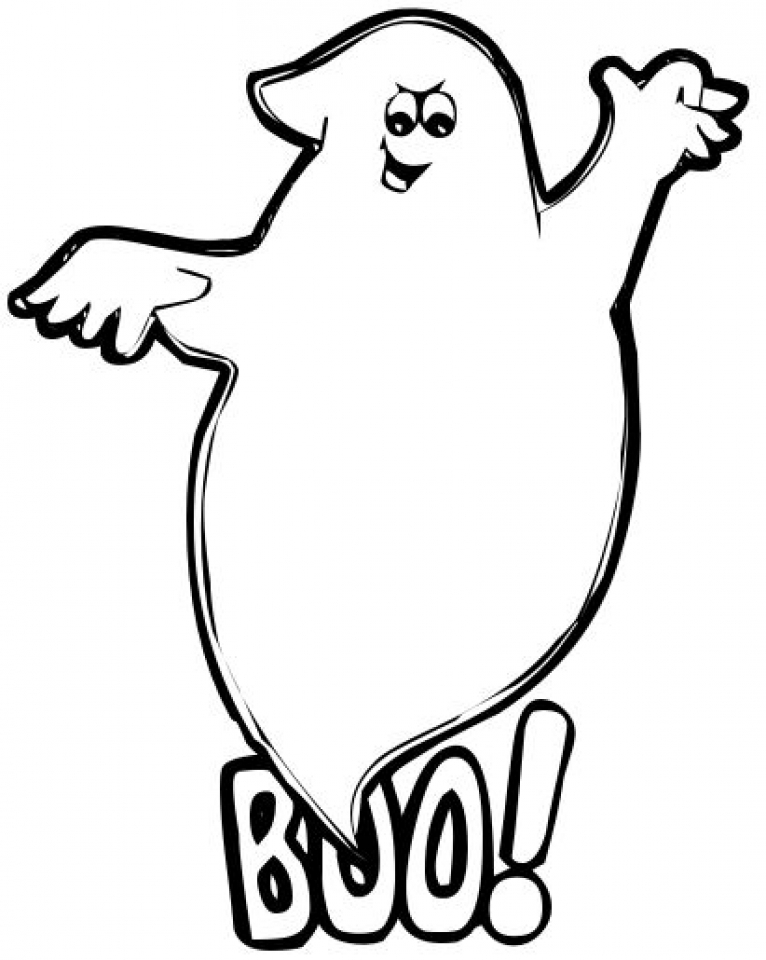 Ghost Coloring Pages Free Printable   51582