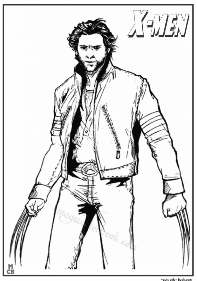 Get This Image Of Wolverine Coloring Pages To Print For