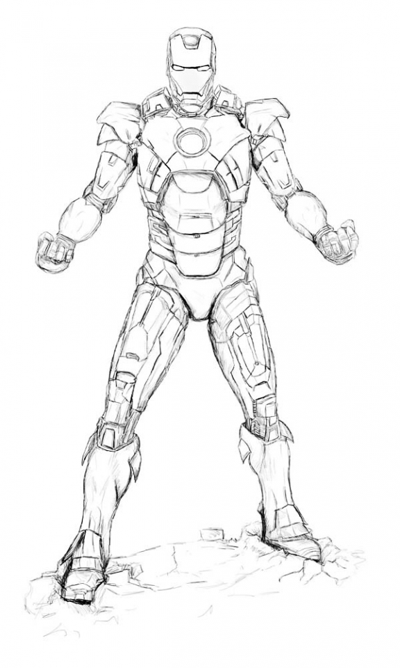 Get This Ironman Coloring Pages Free Printable 66396