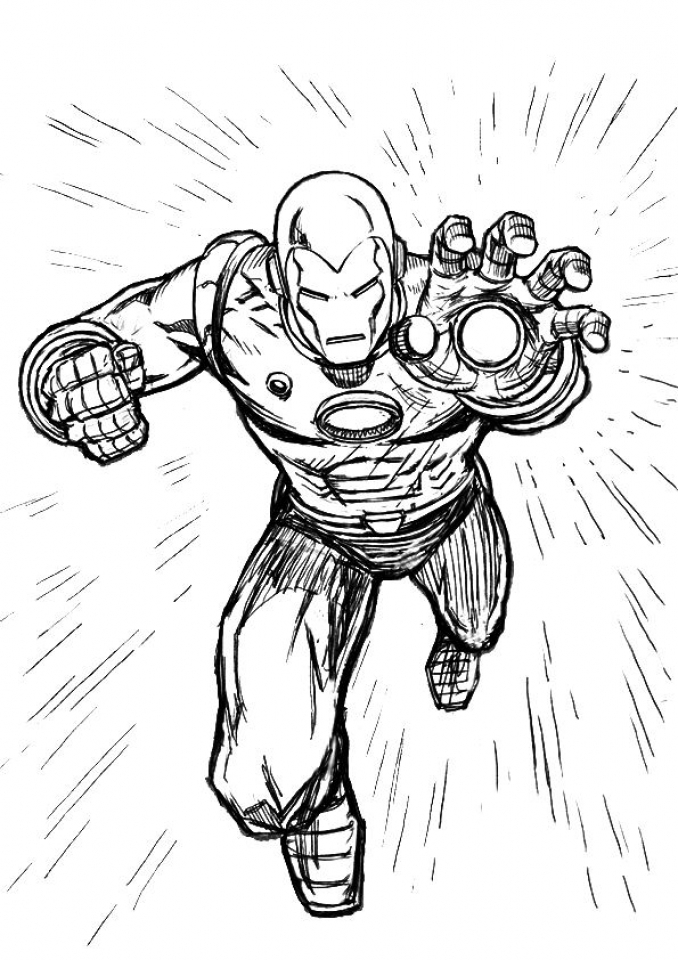 Ironman Coloring Pages Free Printable   75185