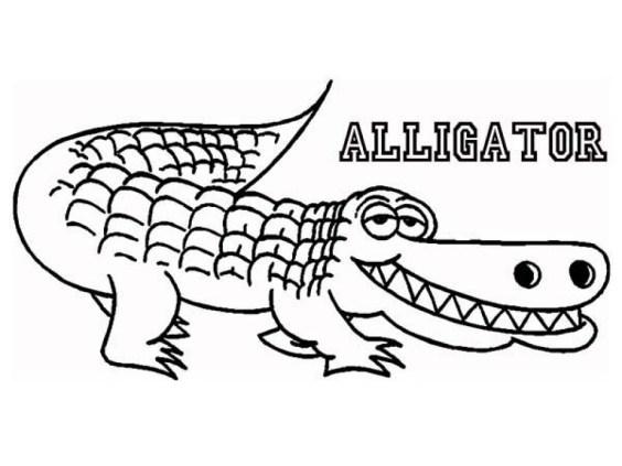 Kids' Printable Alligator Coloring Pages x4lk2