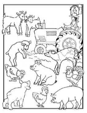 Kids' Printable Farm Animal Coloring Pages Free Online p2s2s