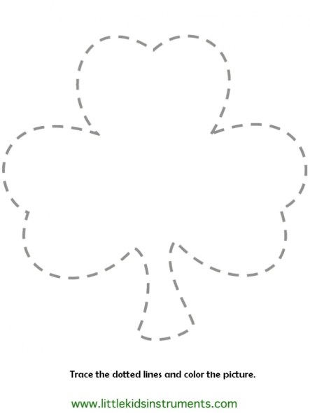 Kids' Printable Shamrock Coloring Pages Free Online p2s2s