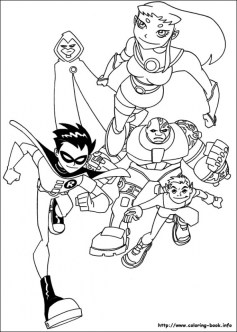 Kids' Printable Teen Titans Coloring Pages uNrZj