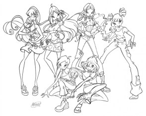 Kids' Printable Winx Club Coloring Pages x4lk2