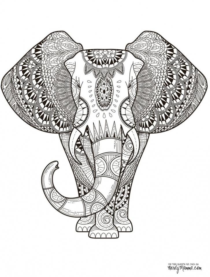 Mandala Elephant Coloring Pages   2x5cf43