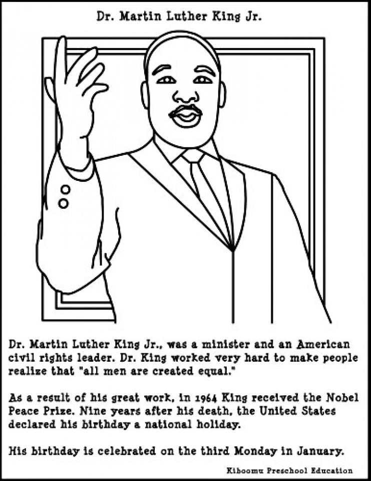 Get This Martin Luther King Jr Coloring Pages Free To