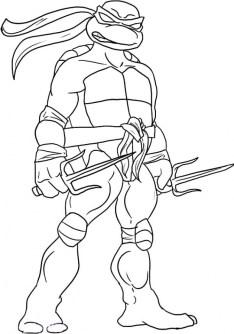 Ninja Turtle Coloring Page Free Printable 11070