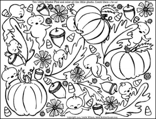 Online Autumn Coloring Pages 61800