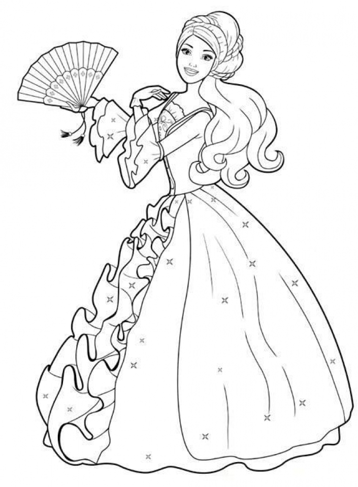 20+ Free Printable Barbie Coloring Pages ...