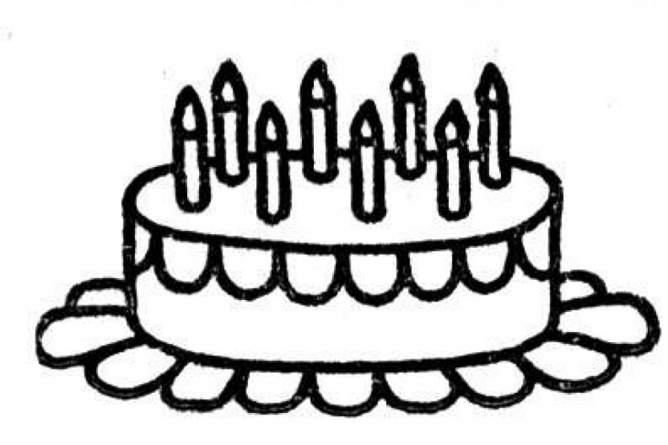 Online Birthday Cake Coloring Pages   17433