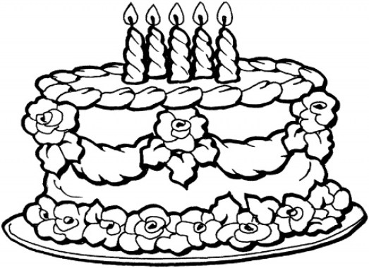 Online Cake Coloring Pages to Print swsyq