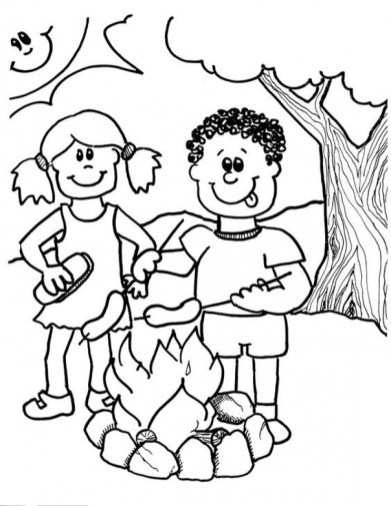 Online Camping Coloring Pages 61800