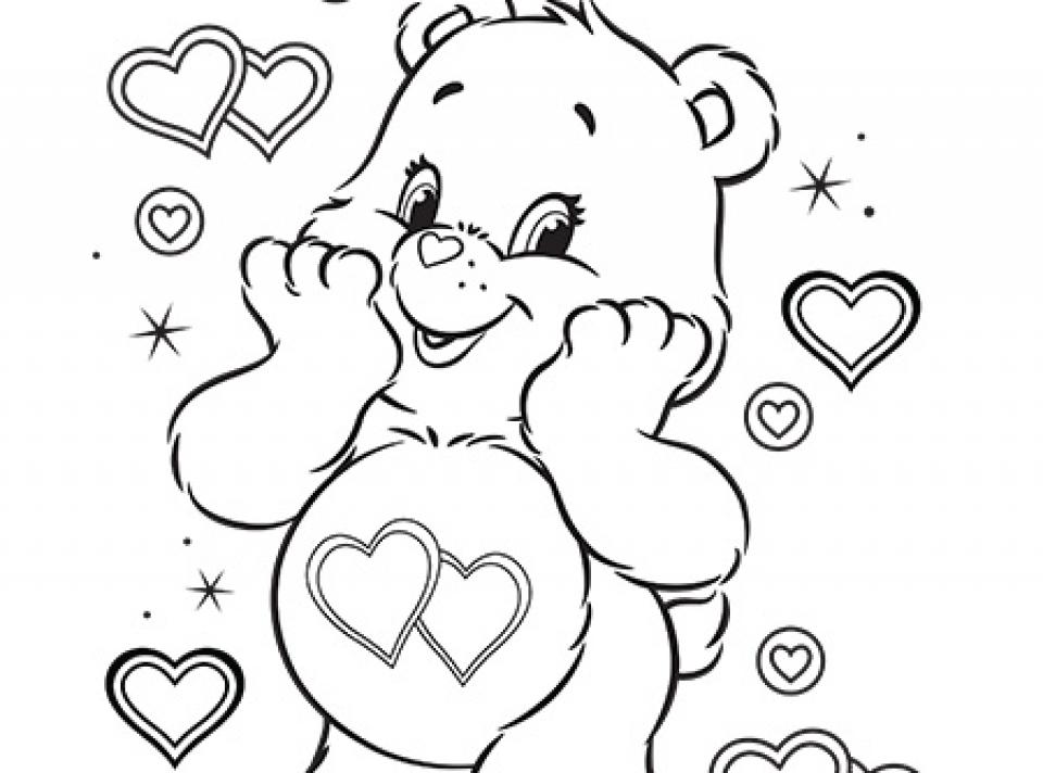 Online Care Bear Coloring Pages for Kids   sz5em