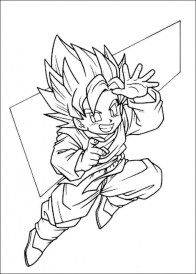 Online DBZ Coloring Pages 61800