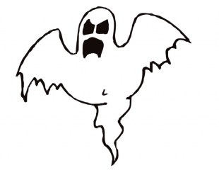 Online Ghost Coloring Pages 60096