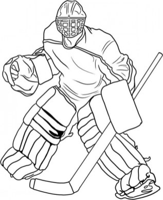 Online Hockey Coloring Pages 61800
