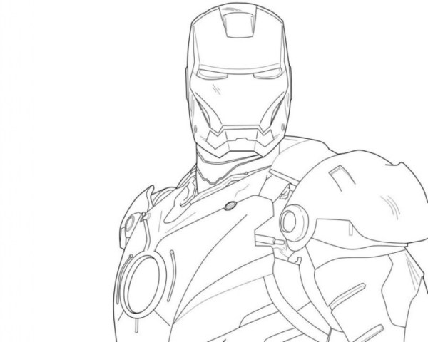 ironman coloring page # 86