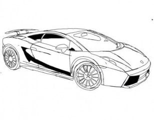 Online Lamborghini Coloring Pages 78742