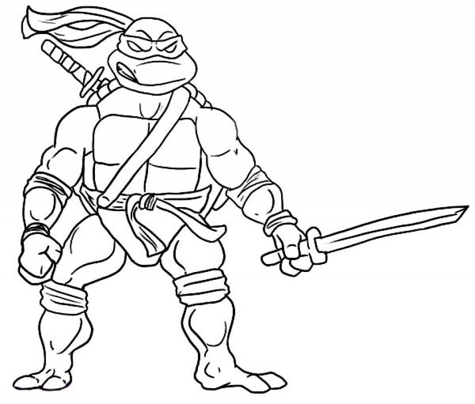 Online Ninja Turtle Coloring Page   83723